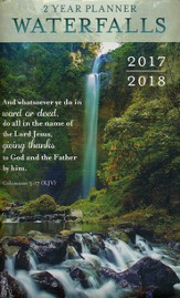 Waterfalls, 2 Year Planner with Keepsake Sleeve, 2017-2018