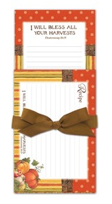 Autumn Harvest Gift Set, Magentic Notepad and Recipe Cards
