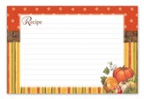 Autumn Harvest Recipe Cards, pack of 36