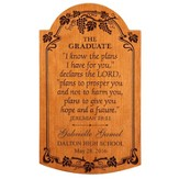 Personalized, Jeremiah 29:11 Graduation Plaque