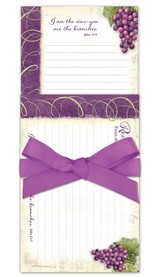 Vineyard Kitchen Gift Set, I Am the Vine, You Are the Branches, Notepad and Recipe Cards
