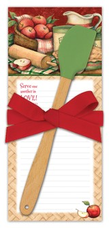 Serve One Another In Love Kitchen Set, Notepad and Spatula