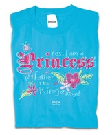 Princess II Shirt, Blue, 4T
