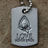 Love Never Ends Memorial Tear Pendant