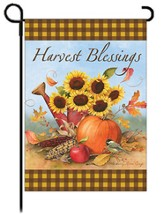 Harvest Blessings Art Flag, Small