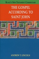 The Gospel According to Saint John: Black's New Testament Commentary  [BNTC]