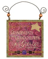 Grandparents and Grandchildren Are God's Gift Plaque