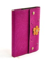Leather Flower Journal, Purple