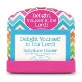 Delight in the Lord Scripture Card Holder