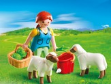 PLAYMOBIL ® Country Woman with Sheep Feed Accessory