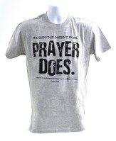 Prayer Does Shirt, Gray, Medium