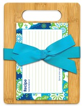 Serve One Another Bamboo Cutting Board Gift Set, Blue and Green