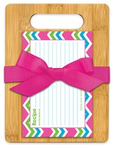 Serve One Another Bamboo Cutting Board Gift Set, Pink, Green and Blue