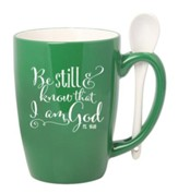 Be Still and Know That I Am God Mug with Spoon