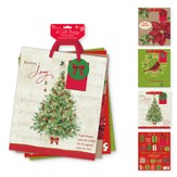 Christmas Gift Bag Assortment, with Christmas Tree Design, KJV, Large, 4 pack