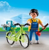 Playmobil Handyman With Bike Accessory