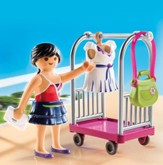 Playmobil Model With Clothing Rack Accessory