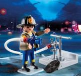 Playmobil Fireman With Hose Accessory