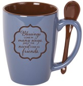 Blessings Come In Many Ways Mug with Spoon