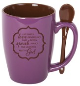 Live Simply Mug with Spoon