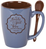 Give Thanks To the Lord Mug with Spoon
