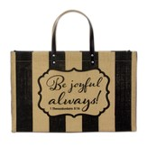 Be Joyful Fashion Tote Bag, Jute
