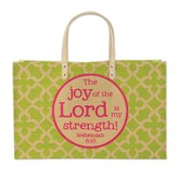 Joy of the Lord Fashion Tote Bag, Jute