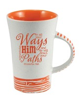 In All Your Ways, Acknowledge Him Mug, Orange