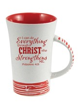 I Can Do Everything Through Christ Mug, Red
