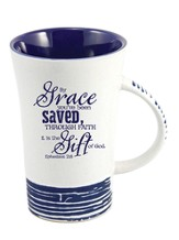 By Grace, You Have Been Saved Mug, Blue