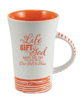 Our Life Is A Gift From God Mug, Orange