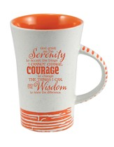 Serenity Prayer Mug, Orange