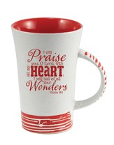 I Will Praise You, O Lord Mug, Red