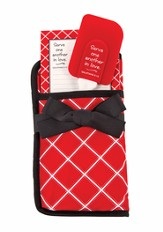 Serve One Another Potholder Gift Set, Red and White