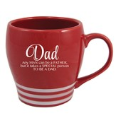 Dad, Any Man Can Be A Father Mug, Red