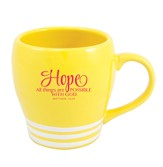 Hope, All Things Are Possible With God Mug, Yellow