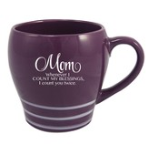 Mom, When I Count My Blessings I Count You Twice Mug, Purple