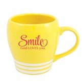 Smile, God Loves You Mug, Yellow
