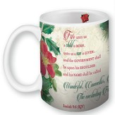 For Unto Us A Child Is Born, Mug In A Gift Box, Isaiah 9:6, 11 oz