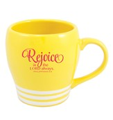 Rejoice In the Lord Always Mug, Yellow