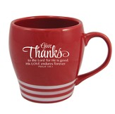 Give Thanks to the Lord, Red Mug