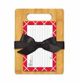 Serve One Another Cutting Board Gift Set, Red and White