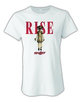 Skillet Rise T-Shirt (Girls Cut) White Large