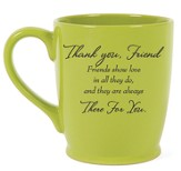 Thank You Friend Mug, Green