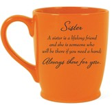Sister, Always There For You Mug, Orange