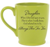 Daughter, Always There For You Mug, Green