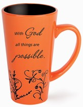 All Things Possible Mug, Orange