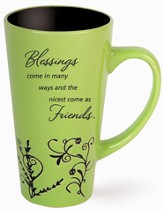 Blessings Come Mug, Green