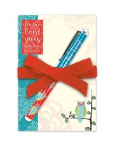 The Lord Gives Wisdom Notepad and Pen Set