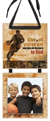 Give All the Glory to God Photo Plaque
